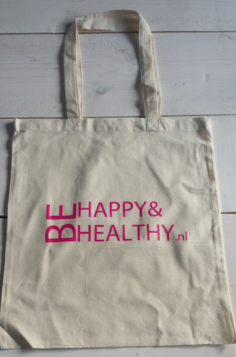 Katoenen tas Be Happy & Healthy